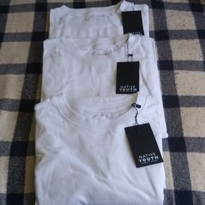 Native Youth white t-shirts (3)